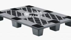 80×120 Delikli İç İçe Geçen Siyah Plastik Palet